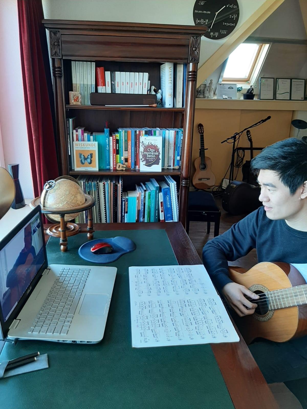 Online muzieklessen in Coronatijd